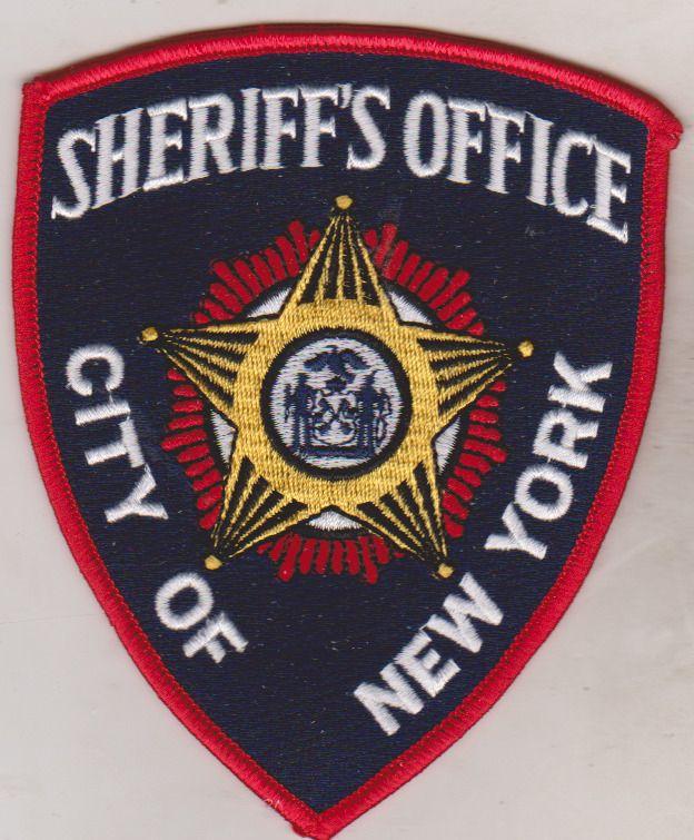 City Of New York Sheriff S Office Patch Ebay