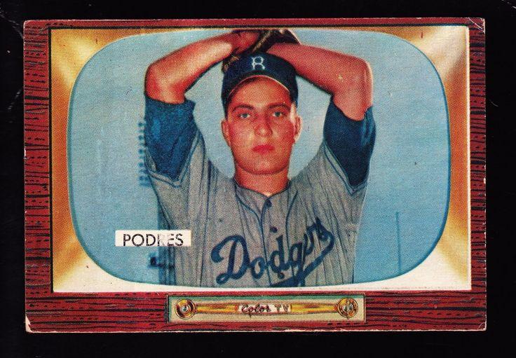 1955 BOWMAN #97 JOHNNY PODRES BROOKLYN DODGERS