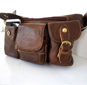Genuine Natural Wallet Bag Man Woman Pocket Waist Leather Fanny Pack Bags Pouch | eBay