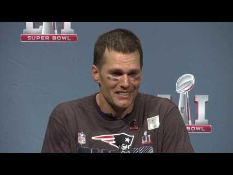 Tom Brady Super Bowl 51 Win Press Conference - YouTube