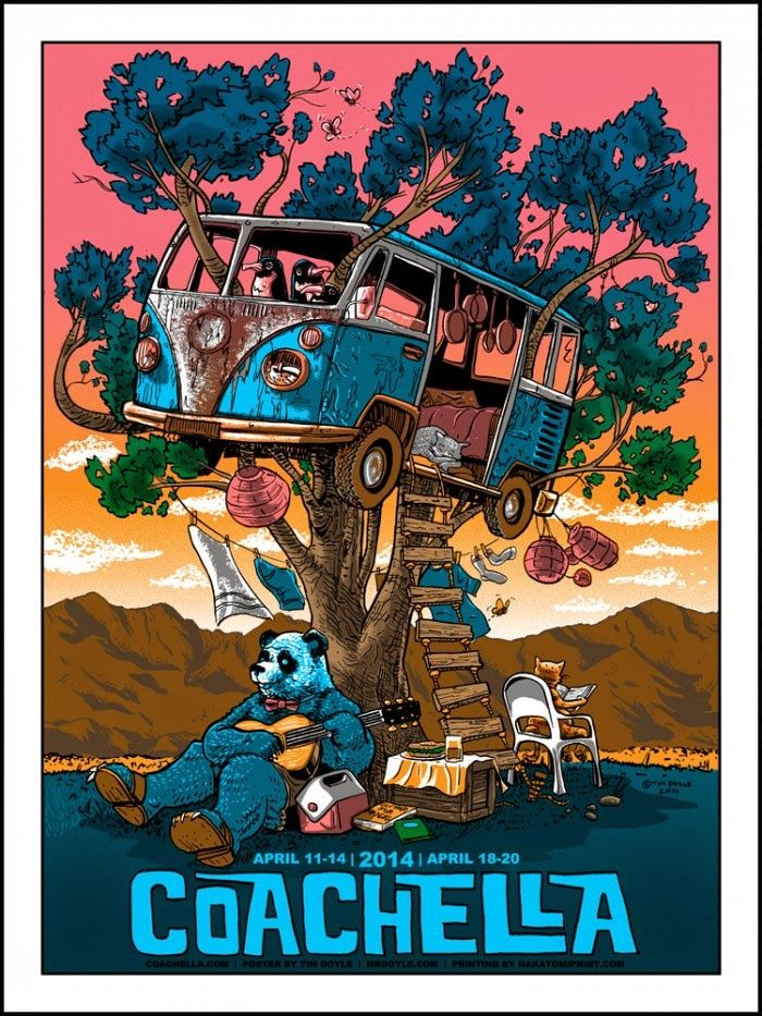 Coachella Poster by Tim Doyle. #gigposters #music #musicart http://www.pinterest.com/TheHitman14/music-poster-art-%2B/
