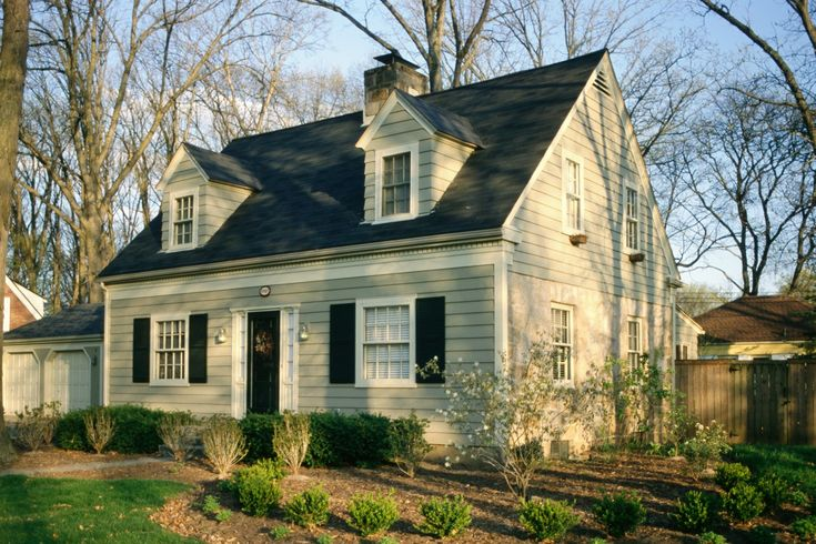 "Cape Cod House. Exterior Cape Cod architecture. ""Makeover Before and After Ideas"""