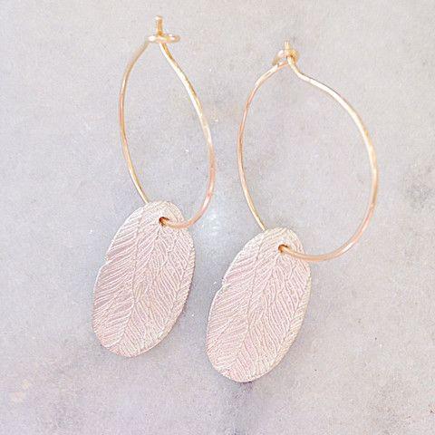 Fine Silver Liberty Feather Hoop Earrings – Eran Naylor Jewellery