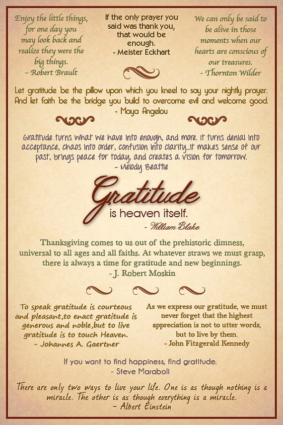 Gratitude Quotes Poster - Customizable - Etsy