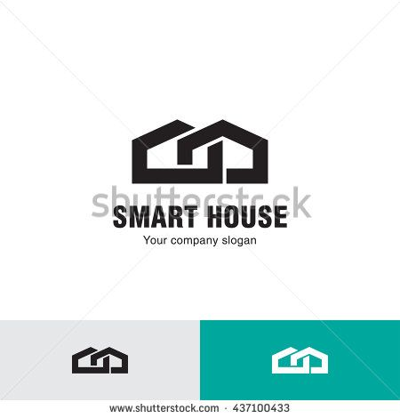 Simple line house logo, icon. Abstract Logo Design Template for Company. Building Vector Silhouette.
