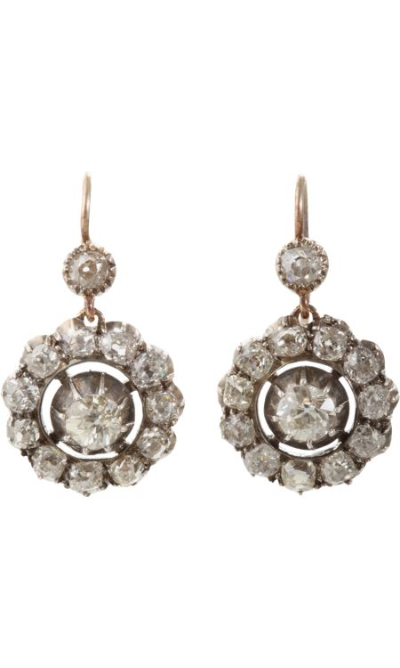 Olivia Collings Antique Jewelry Old Cut Diamond Earrings.