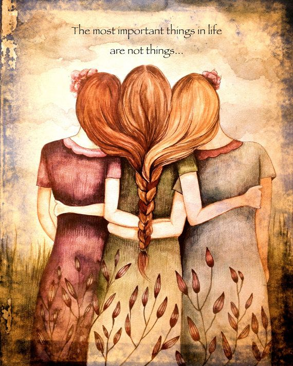 Hey, I found this really awesome Etsy listing at https://www.etsy.com/listing/200470868/three-sisters-art-print-with-quote-or