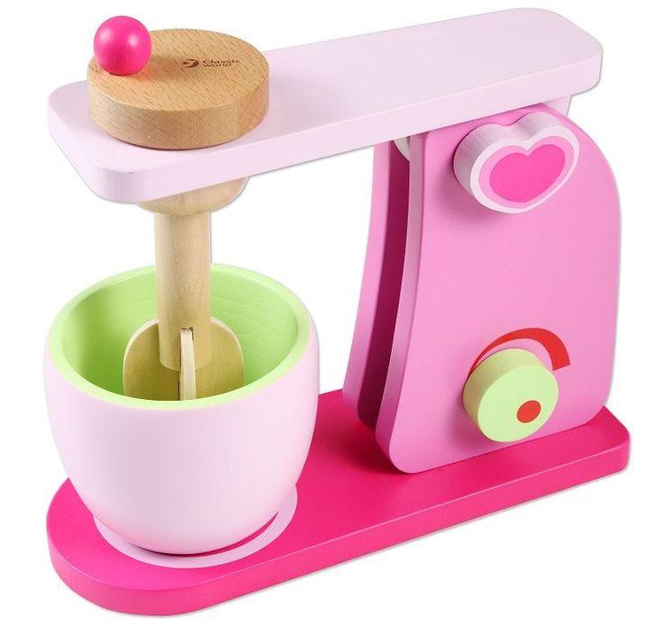 Ten piękny drewniany różowy mikser i inne zabawki drewniane do kupienia na www.kidsabc.pl