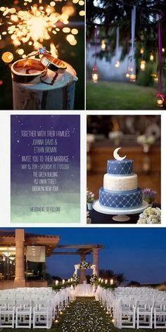 Starry Night Wedding Theme | http://simpleweddingstuff.blogspot.com/2014/02/starry-night-wedding-theme.html