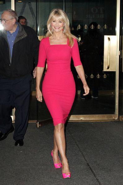 Christie Brinkley Photos: Christie Brinkley in Bright Pink