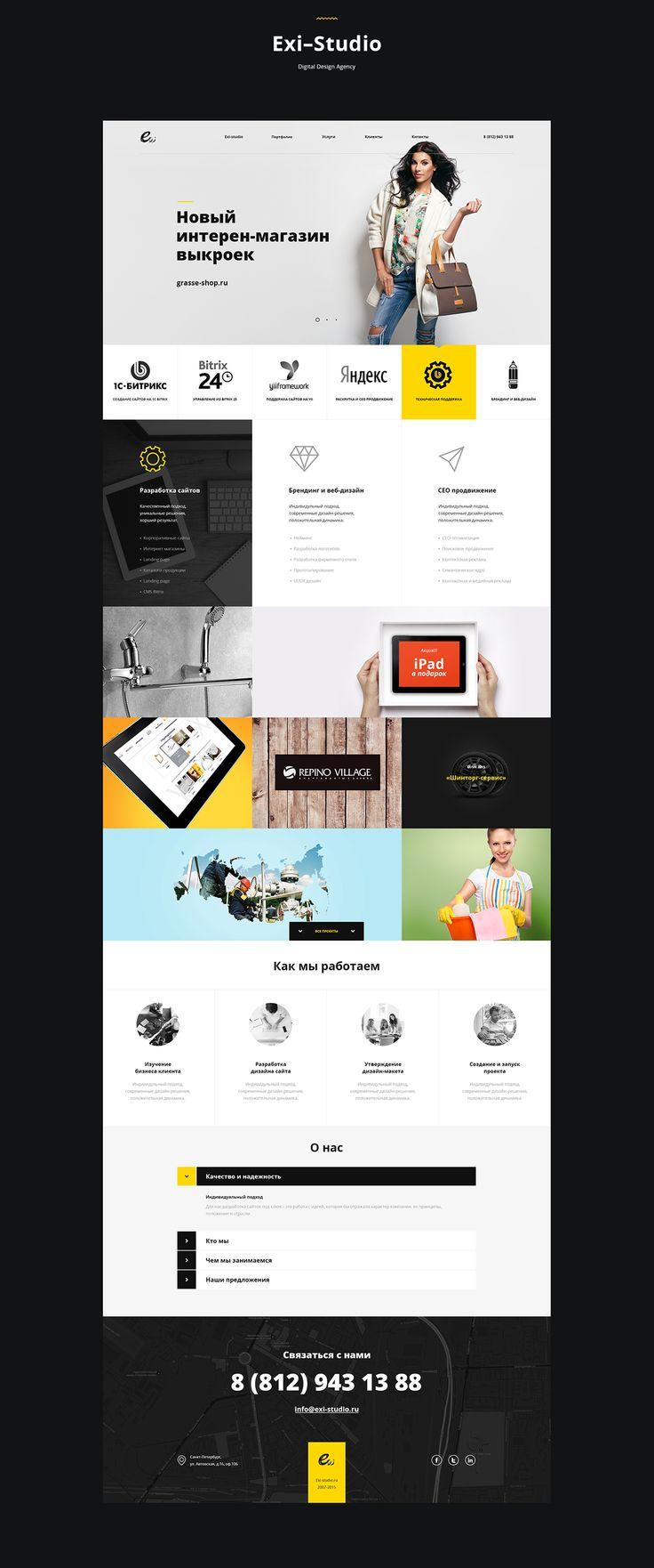 Website design 2015-2016 on Behance