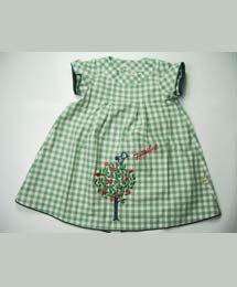 Babykleid 100 Bio Baumwolle mit Apfelbaum Stickerei