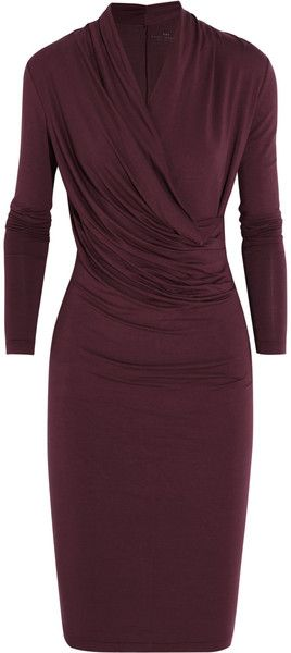 Original Pin: Wrap-effect Stretch-jersey Dress - DAYBIRGERMIKKELSON