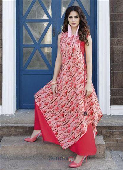 b3700e956 Party Wear Rayon Printed Long Kurtis Kurtis Collection 7417  kurti   printedkurti  rayonkurti  longkurti  shopping  women  clothing