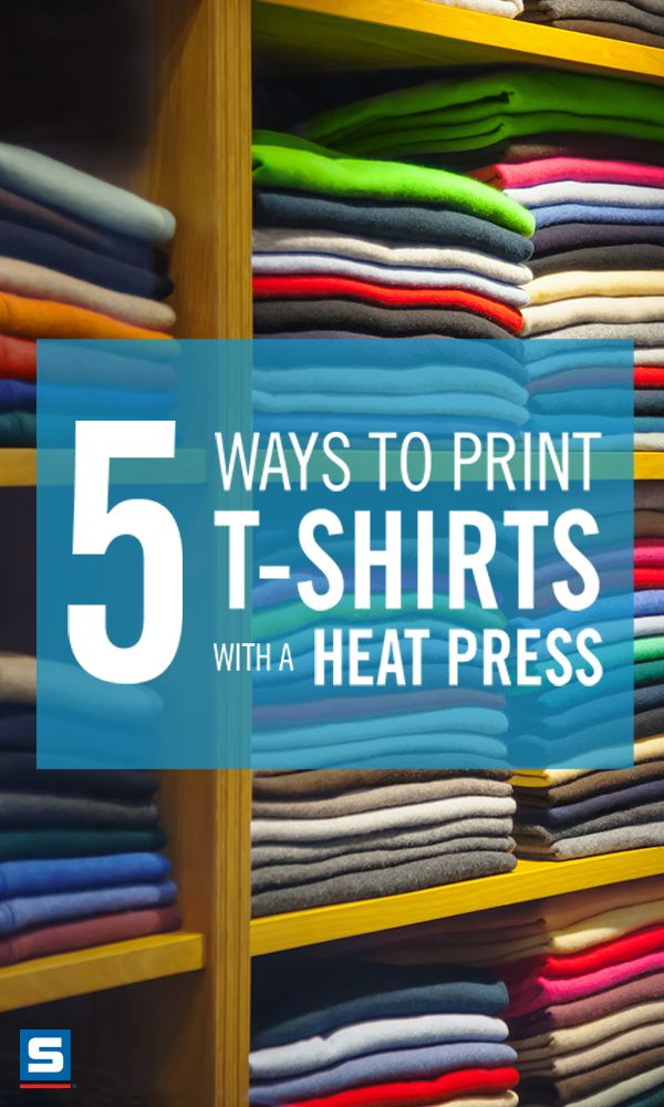 5 Ways To Print T Shirts With A Heat Press