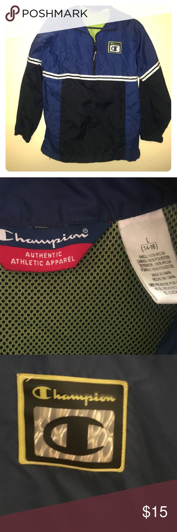 Champion Pullover Windbreaker Authentic Vintage Champion Champion Jackets & Coats