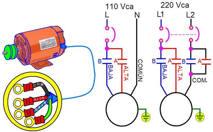coparoman: Control para un motor monofásico de dos velocidades