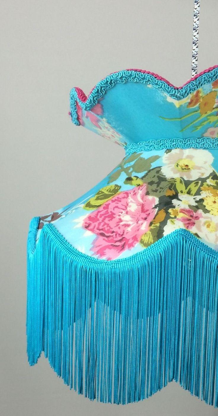 "victorian vintage lampshade Standard Pendant Handmade lampshade Floral 16"" in Home, Furniture & DIY, Lighting, Lampshades & Lightshades   eBay"