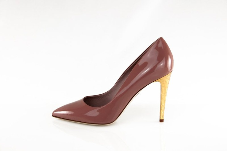 Niky, calzatura vernice rosè/tacco oro! Che ve ne pare? ;)