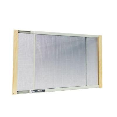 W B Marvin 21 - 37 in. W x 15 in. H Wood Frame Adjustable Window Screen-AWS1537 - The Home Depot