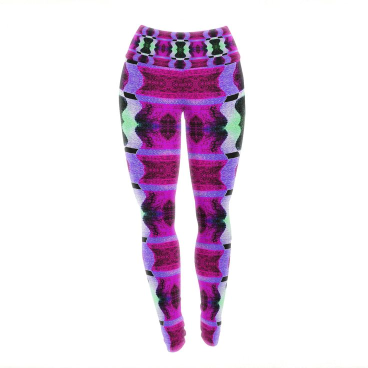 "Anne LaBrie ""High Vibrations"" Magenta Purple Yoga Leggings from KESS InHouse"