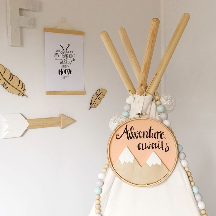 A custom wooden mountain adventure awaits embroidery hoop art headed out to its new home today. Just love this peach colour the customer choose.