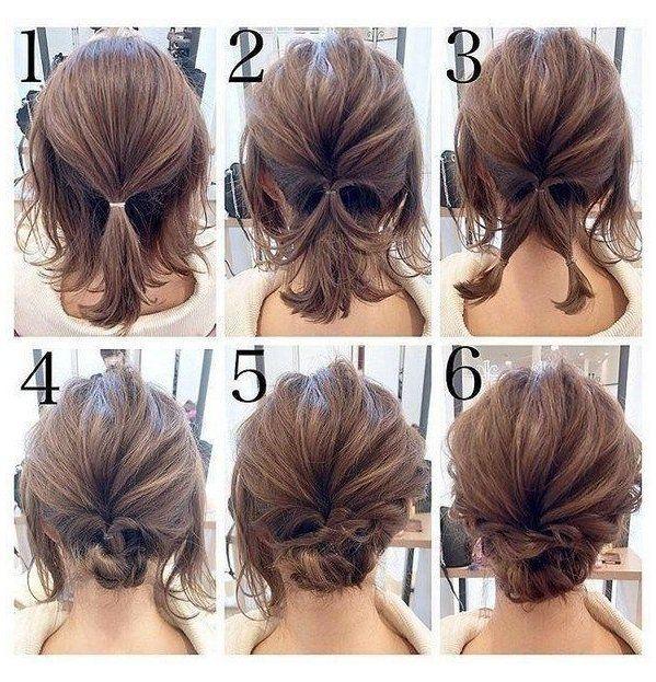 Easy Updo Hair Tutorials For The Season Shorthairupdo In 2020 Short Wedding Hair Short Hair Updo Easy Updos For Medium Hair