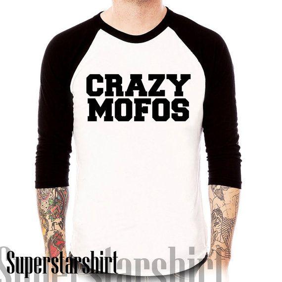 crazy mofos shirt 1 direction logo printed raglan tee for men and women baseball tee