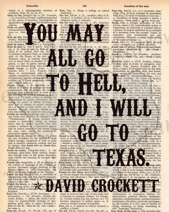 Vintage Dictionary I will go to Texas Print  by TheSalvagedSparrow, $8.00