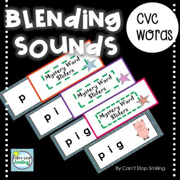 "This packet contains fun ""sliders"" for you to use to help your students blend phonemes to make words. You simply slide the word out one sound at a time, and your students will blend sounds to guess the word and picture at the end. Included are 30 sliders and 3 covers for"