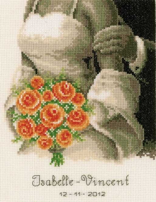 The Bouquet Wedding Sampler Cross Stitch Kit £23.75 | Past Impressions | Vervaco