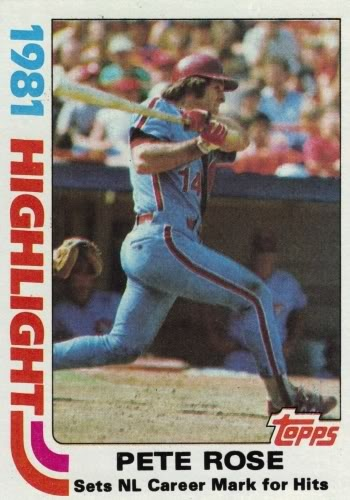 1981 Topps Pete Rose Philadelphia Phillies Baseball Card