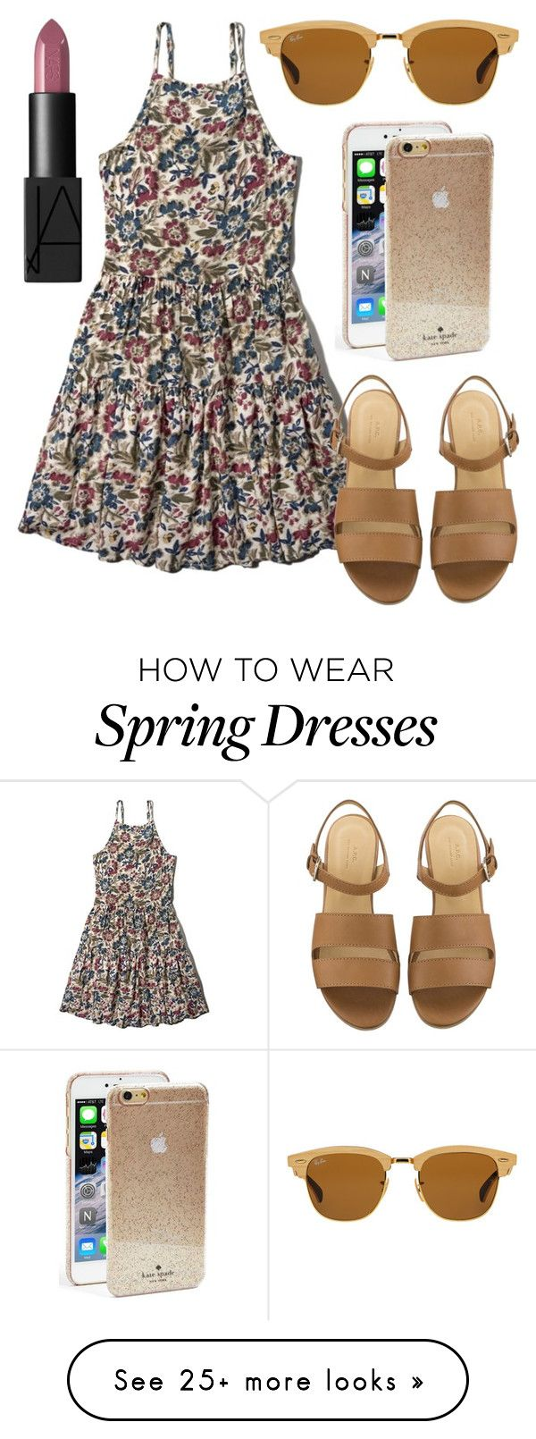 """Ready for Spring"" by kk-purpleprincess on Polyvore featuring Abercrombie & Fitch, Ray-Ban, Kate Spade, NARS Cosmetics, women's clothing, women's fashion, women, female, woman and misses"