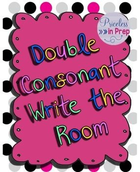 A simple Write The Room activity focussing on double consonants.I use Write The Room as a literacy centre in the mornings.Includes and answer key for those pesky pictures we can never quite guess on our own  :)I hope you enjoy this product. Please leave feedback to let me know what you think!