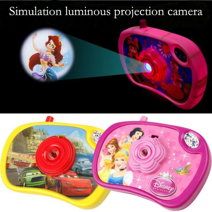 De dibujos animados para niños juguetes de simulación de la cámara de proyección luminosa puede transformar los ocho tipos de patrones