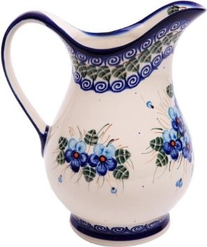 Beautiful blue colored flower pattern pitcher