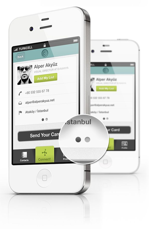 Cardness iPhone Application Design by Alper Akyüz, via Behance