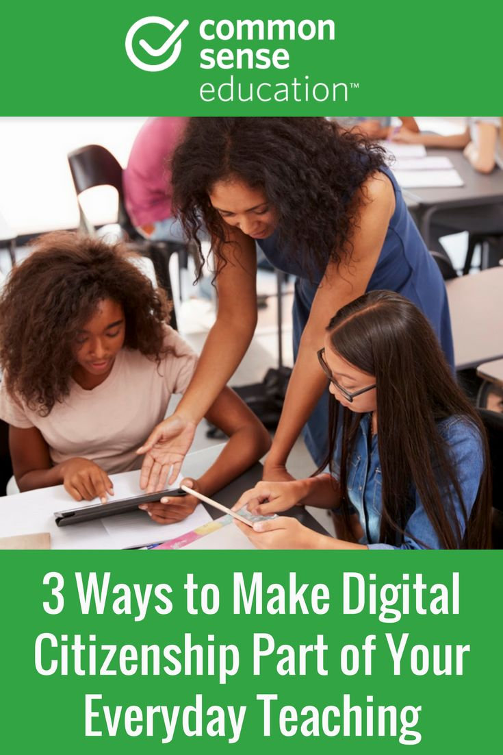 Digital citizenship skills don't have to be targeted lessons. They can also be integrated into everyday teaching.