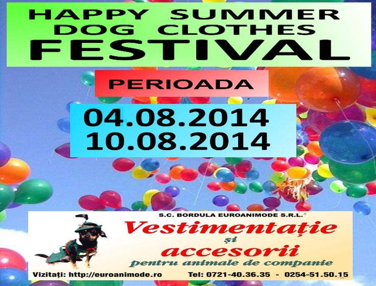 Happy summer dog clothes festival