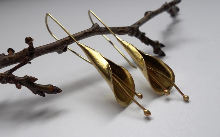 Earrings in brass by Anna Caruso Arts & Crafts { more info at http://www.facebook.com/AnnaCarusoArtsCrafts }