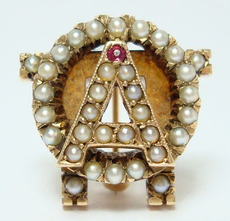 Badge from 1943 - This resembles the badge I wear. It was given to me by my grandmother, Nu Omicron Initiate.