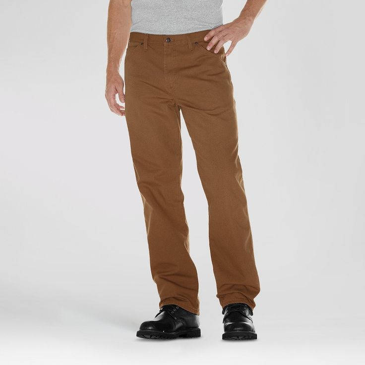 Dickies Men's Big & Tall Relaxed Straight Fit Canvas Duck Carpenter Jean- Brown Duck 40x36