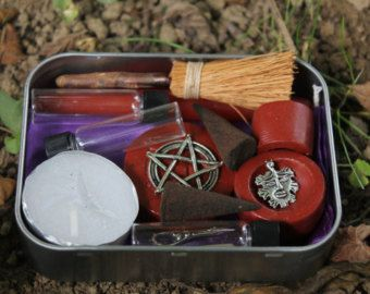 Pocket altar, small altar kit, travel altar, portable altar kit, wiccan altar kit, pagan altar set, starter set for your wiccan supplies