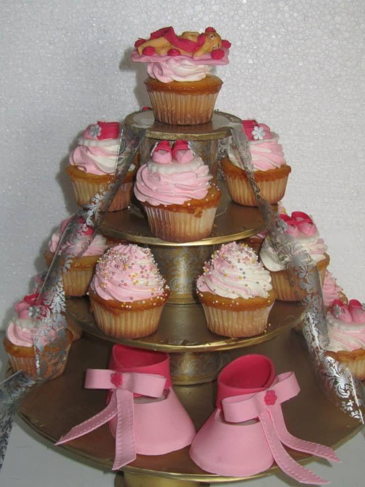 #Cupcakes #Baby #Shoes #Rosa #fondant #PastelitoRico
