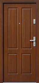 Klasyczne drewniane drzwi zewnętrzne model 534,6 w kolorze orzech