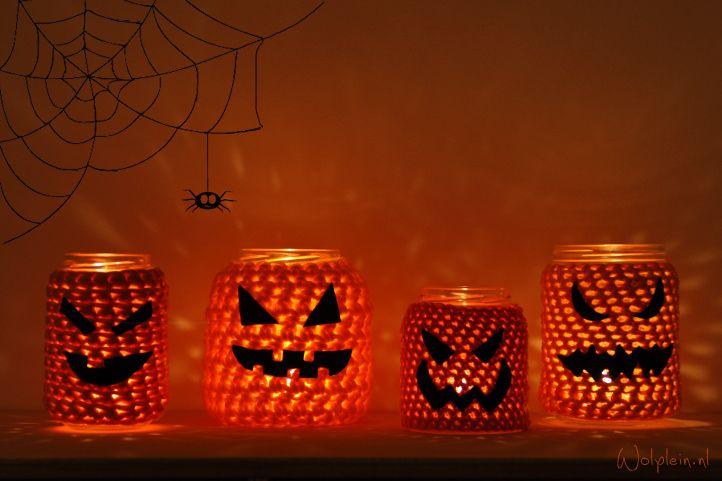 Halloween, voor in huis. Leuk en makkelijk om te maken. Bekijk de uitleg.