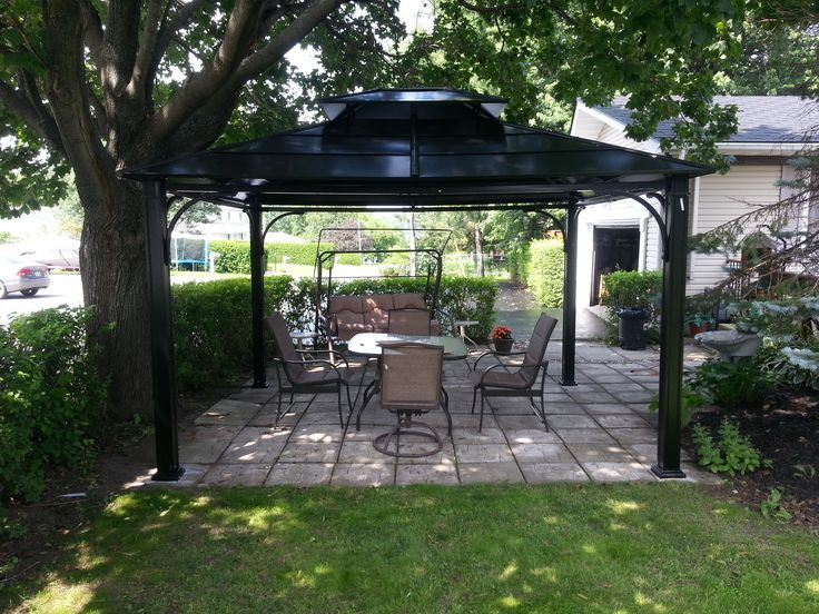 Gazebo shade gazebo assemblies pinterest shades and for Terrace gazebo