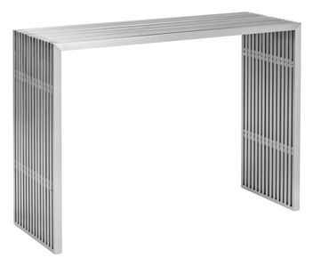 Zuo Modern Novel Console Table in Stainless Steel