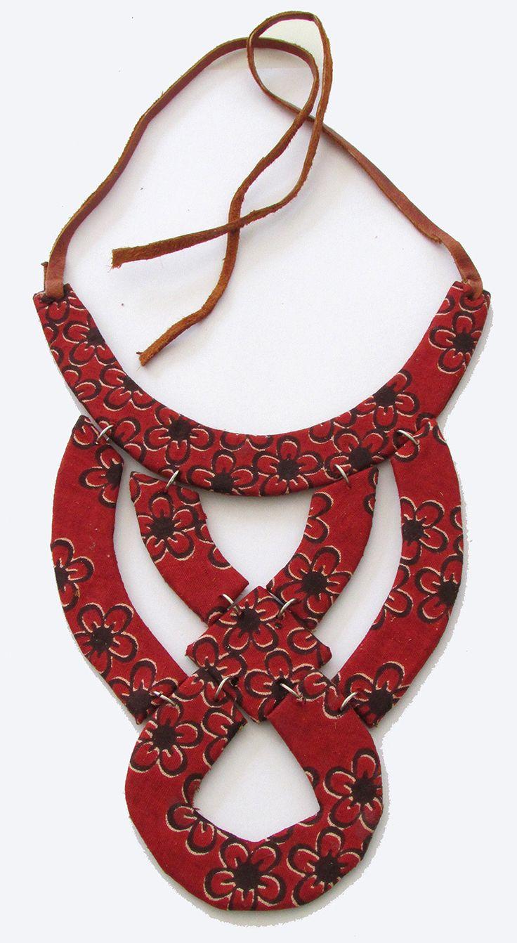 Fundi unique handcrafted African ankara fabric fashion necklace - Modern…