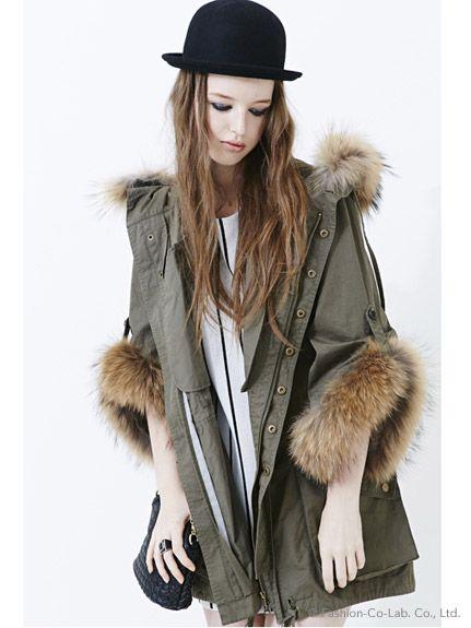 フードと袖にはファー付き。でおしゃれ度急上昇♡モッズコートのトレンド♡人気・おすすめのレディース一覧♡